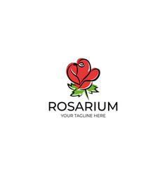 rose logo template vector image