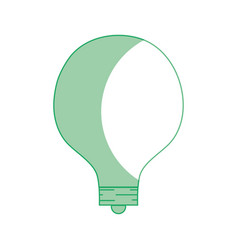 Silhouette energy bulb to illuminate places vector