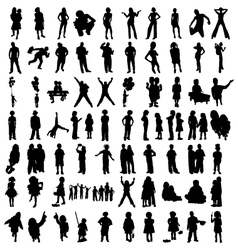 Silhouette of people vector