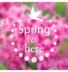 Spring blurry background vector image vector image