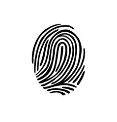 thumb print fingerprint vector image