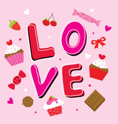Valentine love sweetheart cute cartoon vector