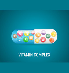 vitamin and antioxidant complex vector image