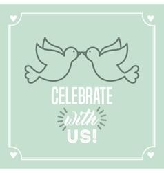 wedding invitation design vector image vector image