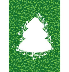 X mas fir green vector