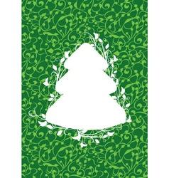 x mas fir green vector image