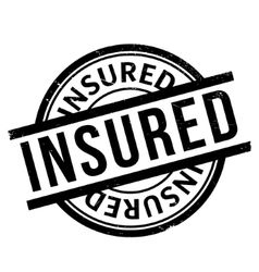 Insured rubber stamp vector