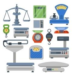 Weight measurement instrumentation tools vector image