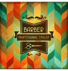 Hairdressing background in retro style vector image