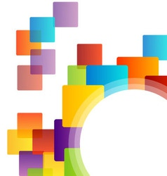 Background with colorful blocks vector