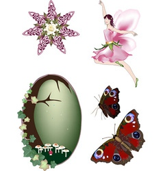 Collection of enchanted faerie vector