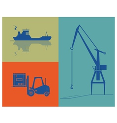 Shipping and cargo industry vector
