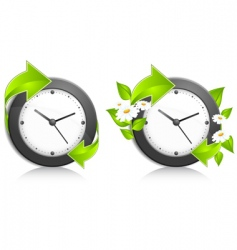 Nature clock vector