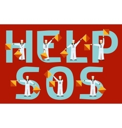 Help and sos semaphore flags vector