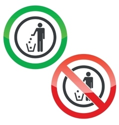 Recycling permission signs vector