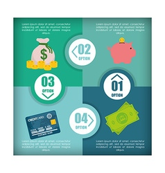 Money infographic design vector