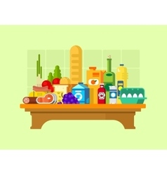 Food set on the table vector