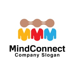 Mind connect design vector