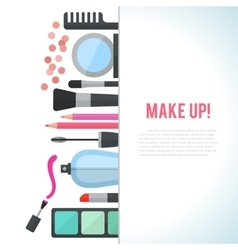 Make up concept flat with vector