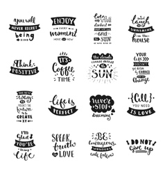 Hand drawn lettering collection vector