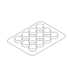 Pills strip icon isometric 3d style vector