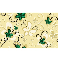Background with emerald flowers vector