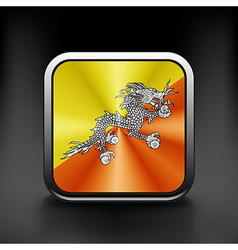 Bhutan icon flag national travel icon country vector