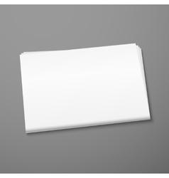 Blank newspaper mockup vector image