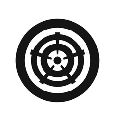 Car wheel icon in simple style vector image vector image