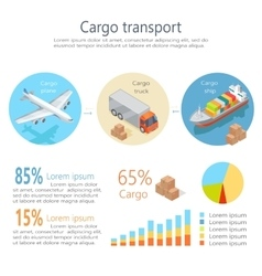 Cargo transport isometric infographics elements vector