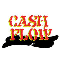 Cash flow sticker vector
