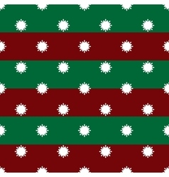 Christmas winter snowflakes on red and green vector image vector image
