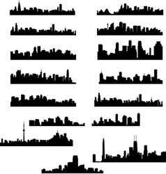 City panoramas vector