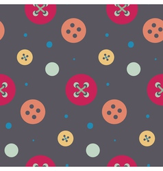 Colorful button seamless pattern vector image vector image