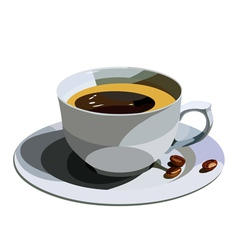 cup with coffee vector image