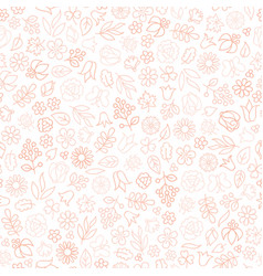 Flower icon seamless pattern floral leaves gentle vector