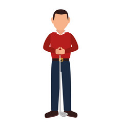 Golf player avatar character vector