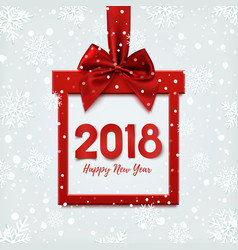 Happy new year 2018 design square banner vector