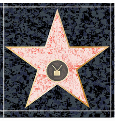Hollywood tv walk of fame vector