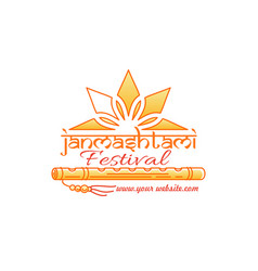 janmashtami festival logo concept design vector image vector image