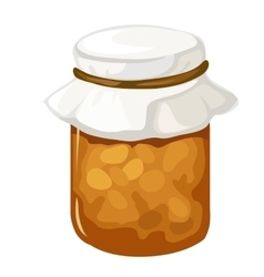 Jar of homemade jam or marmalade dessert vector