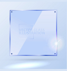 light blue square glass - light background vector image