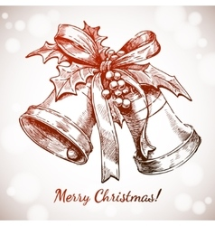 Merry christmas and happy new year holidays vector