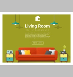 Modern living room Interior background 4 vector image