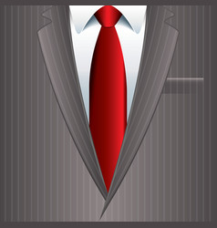 object grey man suit vector image vector image