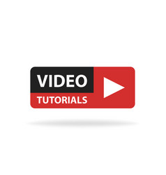 online video tutorials education button play vector image