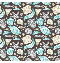 ornamental sea pattern vector image