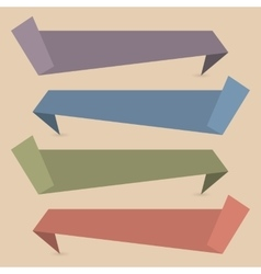 Set of paper banners vector image vector image
