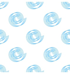 simple background of blue spirals seamless vector image vector image