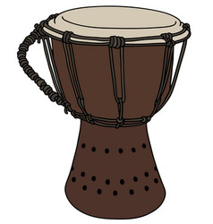 Small wooden drum vector
